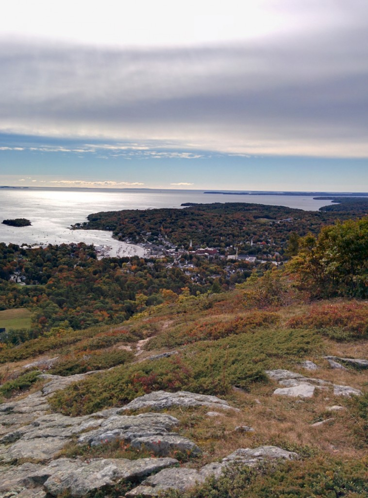 View of Camden from Mt Battie