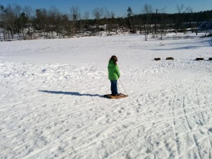 Sledding at OSV