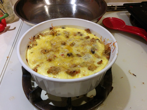 breakfast casserole - finished product