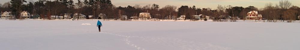 Walking across Silver Lake