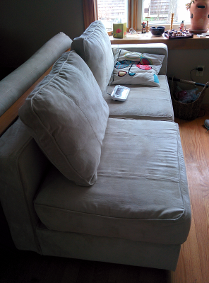 Sactional couch, assembled