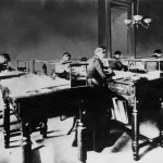 Bookkeeping department circa 1900
