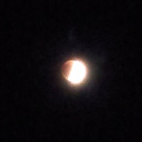 Moon, partially occluded by eclipse