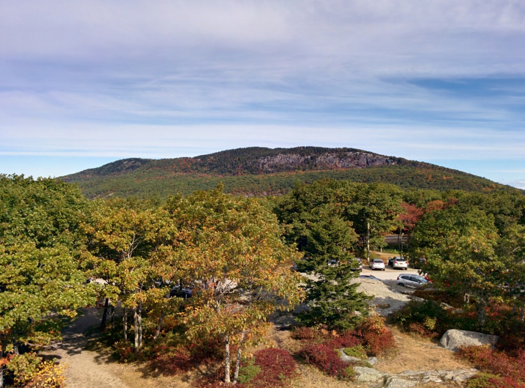 View of Mt Megunticook from Mt Battie