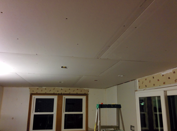 naked dining room ceiling