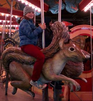 Beta child on the carousel