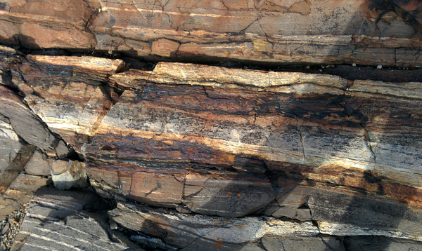 striations in sedimentary rock