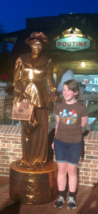 Beta and living statue