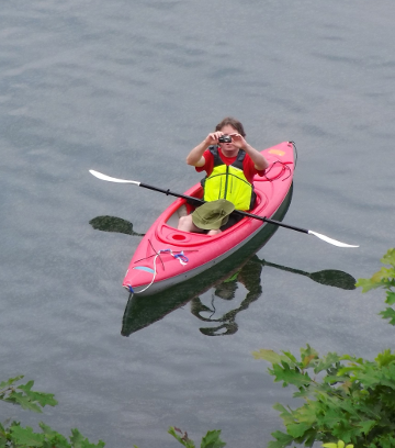 sam in kayak