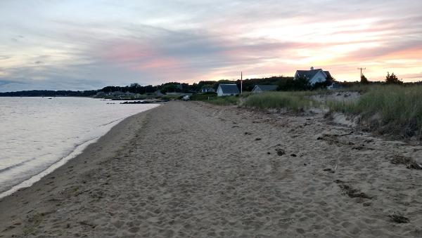 mayo beach at sunset