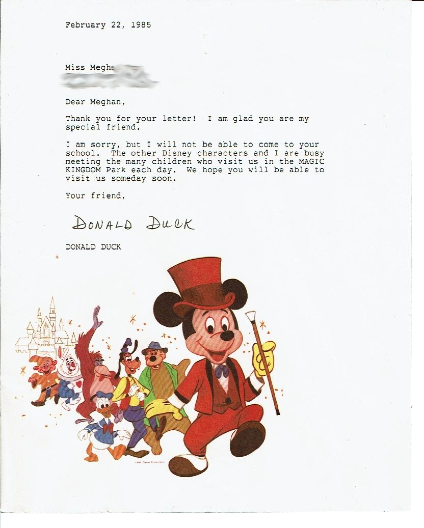 disney replies, they won't come