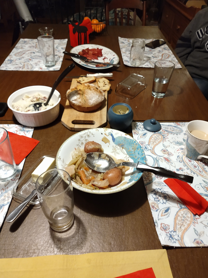 after dinner table